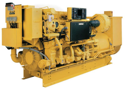 Caterpillar 3508 Generator set   Power   1500 HP  RPM   1900 rpm  Configuration   V8, 4 takt Diesel   Suction   Turbocharged, Aftercooled