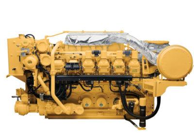 Caterpillar 3512c Generator set   Power   1700 eKW  RPM   1800 rpm  Configuration   V12, 4 takt Diesel   Suction   Twin Turbocharged, Aftercooled