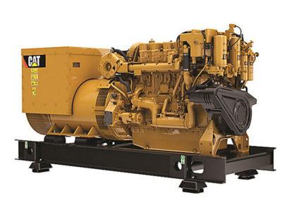 Caterpillar C18 Generator set   Power   565 ekW (706 kVA)  RPM   50 Hz – 1500 tpm, 60 Hz – 1800 tpm  Configuration   6 Inline, 4 takt Diesel   Suction   Turbocharged, Aftercooled