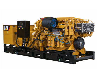 Caterpillar C32 Generator set   Power   940 kW (1175 kVA)  RPM   1500 tpm (50 Hz) or 1800 tpm (60 Hz)  Configuration   V12, 4 takt Diesel   Suction   Twin Turbocharged, Aftercooled