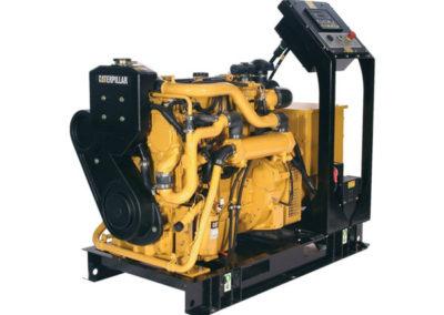 Caterpillar C4.4 Generator set   Power   54.0 – 83.0 bKW    RPM   2200 – 2400 rpm   Configuration   4 Inline, 4 takt Diesel   Suction   Turbocharged, Aftercooled