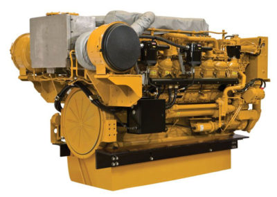 Caterpillar 3512C   Vermogen | 1361 – 2402 pk    Toerental | 1800 rpm   Configuratie | 6 in-lijn , 4-takt Diesel   Aanzuiging | Twin Turbocharged, aftercooled