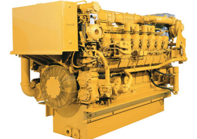 Caterpillar 3516   Vermogen | 2028 – 2230 pk    Toerental | 1600 – 1800 rpm   Configuratie | V16, 4-takt Diesel   Aanzuiging | Twin Turbocharged, aftercooled