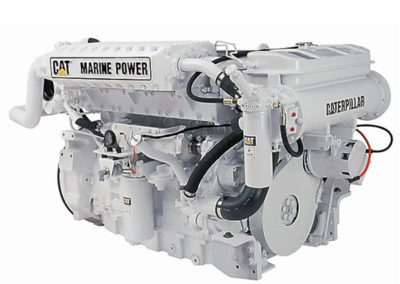 Caterpillar C12   Power | 346 – 710 Hp    RPM | 2300 rpm   Configuration | 6 In-line , 4-takt Diesel   Suction | Turbocharged, aftercooled