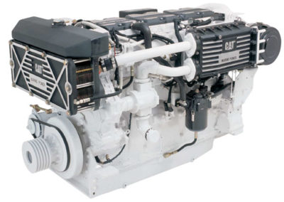 Caterpillar C18   Power | 1016 – 1152 Hp    RPM | 2300 rpm   Configuration | 6 In-line , 4-takt Diesel   Suction | Twin Turbocharged, aftercooled