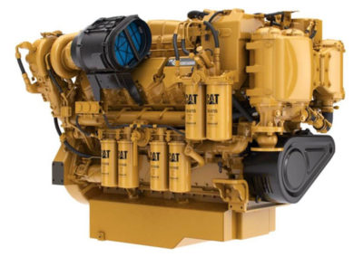 Caterpillar C32 Acert   Power | 760 – 1826 Hp    RPM | 2300 rpm   Configuration | 4-takt V12 Dieselmotor   Suction | Twin Turbocharged, aftercooled