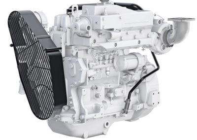 John Deere 4045    Power | 60 Hp   RPM | 2500 rpm   Configuration | 4 cil In-line, 4 takt  Suction | Turbocharged, aftercooled