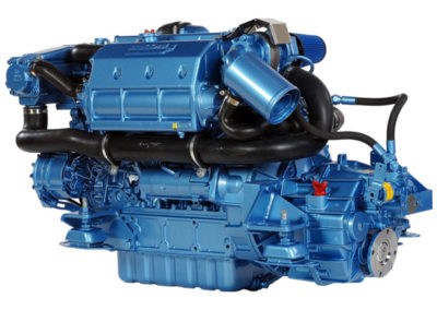 Nanni Diesel N4.115  Power | 115 Hp (84.6 kW)   RPM | 2600 rpm   Configuration | 4 In-line, 4 takt Diesel  Suction | Turbocharged, Aftercooled