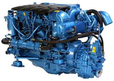 Nanni Diesel T4.165  Power | 165 Hp (121.5 kW)   RPM | 2600 rpm   Configuration | 4 In-line, 4 takt Diesel  Suction | Turbocharged, Aftercooled