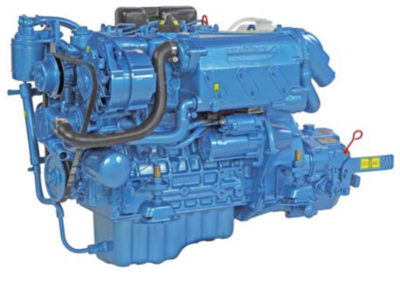 Nanni Diesel N4.38  Power | 37.5 Hp (27.6 kW)   RPM | 3000 rpm   Configuration | 4 In-line, 4 takt Diesel  Suction | Atmospheric