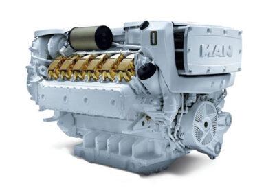 MAN V12 D2862   Power | 1400 – 2000 Hp    RPM | 2300 rpm  Range | Light duty