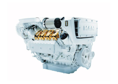 MAN V8 D2868   Power | 1000 – 1300 Hp    RPM | 2300 rpm   Range | Light duty
