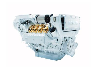 MAN V8 D2868   Power | 1000 – 1300 Hp    RPM | 2300 rpm   Range | Light duty
